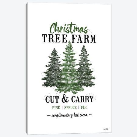 Christmas Tree Farm Canvas Print #HFE40} by House Fenway Art Print