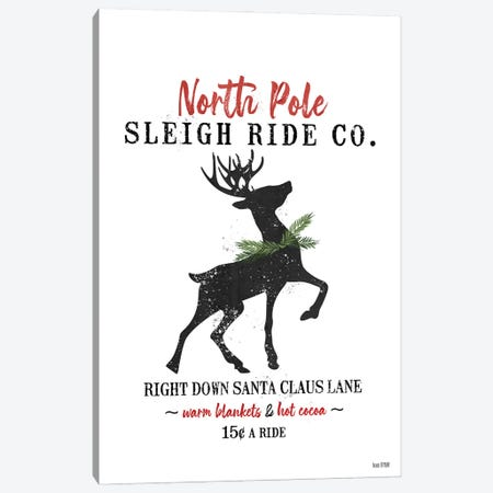 Sleigh Rides Canvas Print #HFE45} by House Fenway Canvas Art