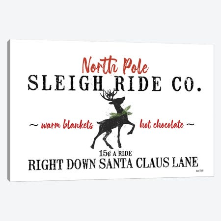 Sleigh Rides Canvas Print #HFE46} by House Fenway Canvas Wall Art