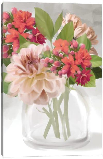 Dahlia Bouquet Canvas Art Print