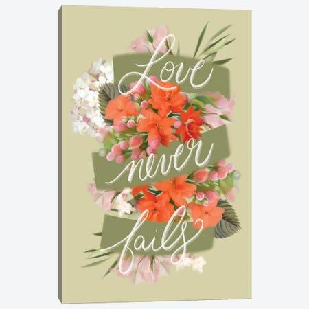 Love Never Fails Canvas Print #HFE49} by House Fenway Canvas Art Print