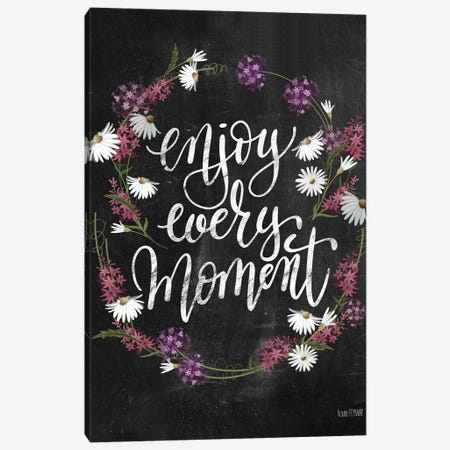 Enjoy Every Moment Canvas Print #HFE4} by House Fenway Canvas Wall Art