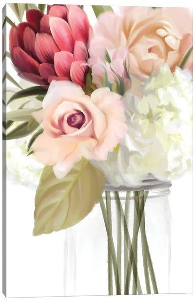 Spring Mason Jar Canvas Art Print