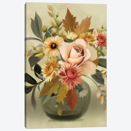Autumn Bouquet Canvas Print #HFE52} by House Fenway Canvas Wall Art