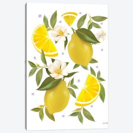 Citrus Lemon Botanical Canvas Print #HFE54} by House Fenway Canvas Art Print