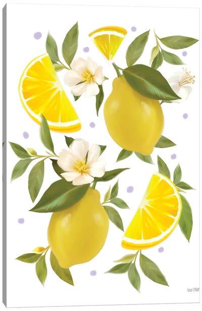 Citrus Lemon Botanical Canvas Art Print