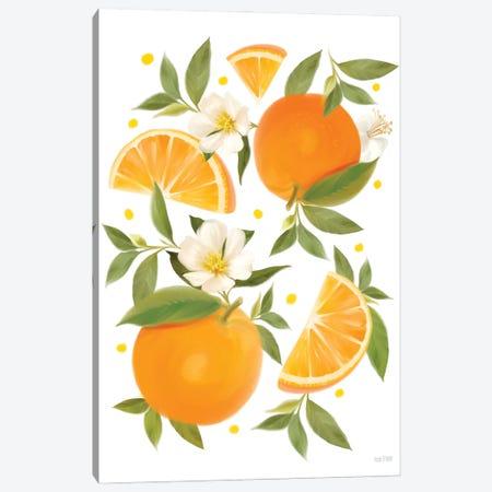 Citrus Orange Botanical Canvas Print #HFE55} by House Fenway Canvas Print