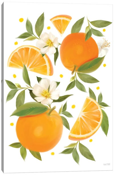 Citrus Orange Botanical Canvas Art Print