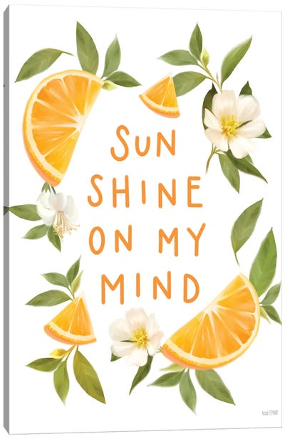 Sun Shine on My Mind Canvas Art Print