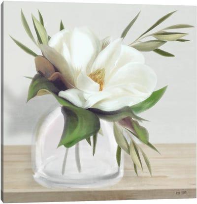 Vintage Magnolia Bloom Canvas Art Print