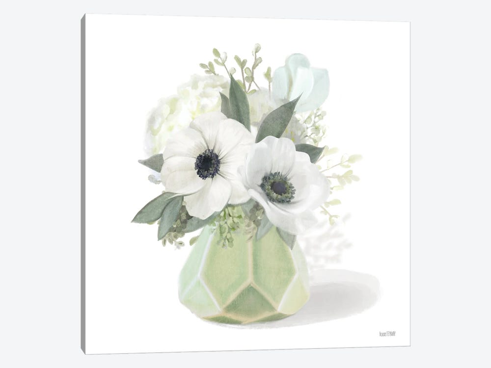 Posies in Green by House Fenway 1-piece Art Print