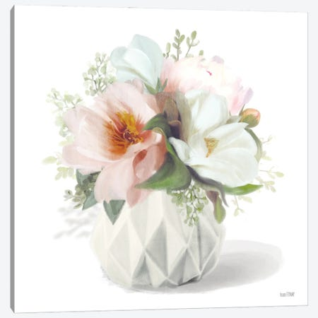 Posies in Pink Canvas Print #HFE84} by House Fenway Canvas Wall Art