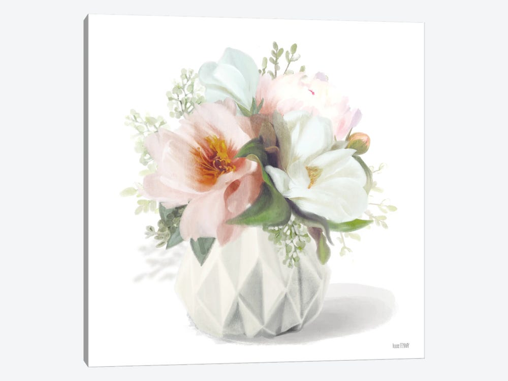 Posies in Pink by House Fenway 1-piece Canvas Wall Art