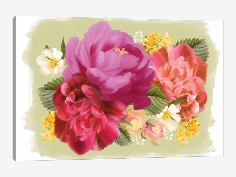 Summer Citrus Floral I by House Fenway 1-piece Canvas Art Print