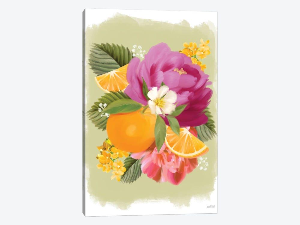 Summer Citrus Floral II by House Fenway 1-piece Canvas Artwork
