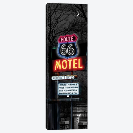 No Tell Motel I Canvas Print #HFL11} by Helen Flint Canvas Art Print