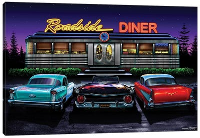 Roadside Diner I Canvas Art Print