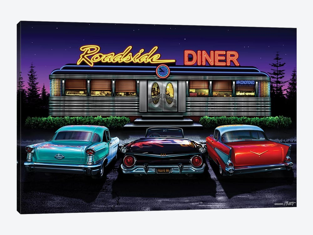 Roadside Diner I by Helen Flint 1-piece Canvas Print