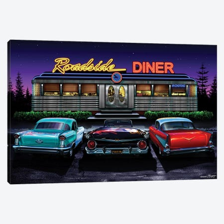 Roadside Diner I 3-Piece Canvas #HFL14} by Helen Flint Canvas Artwork