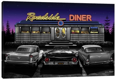 Roadside Diner II Canvas Art Print
