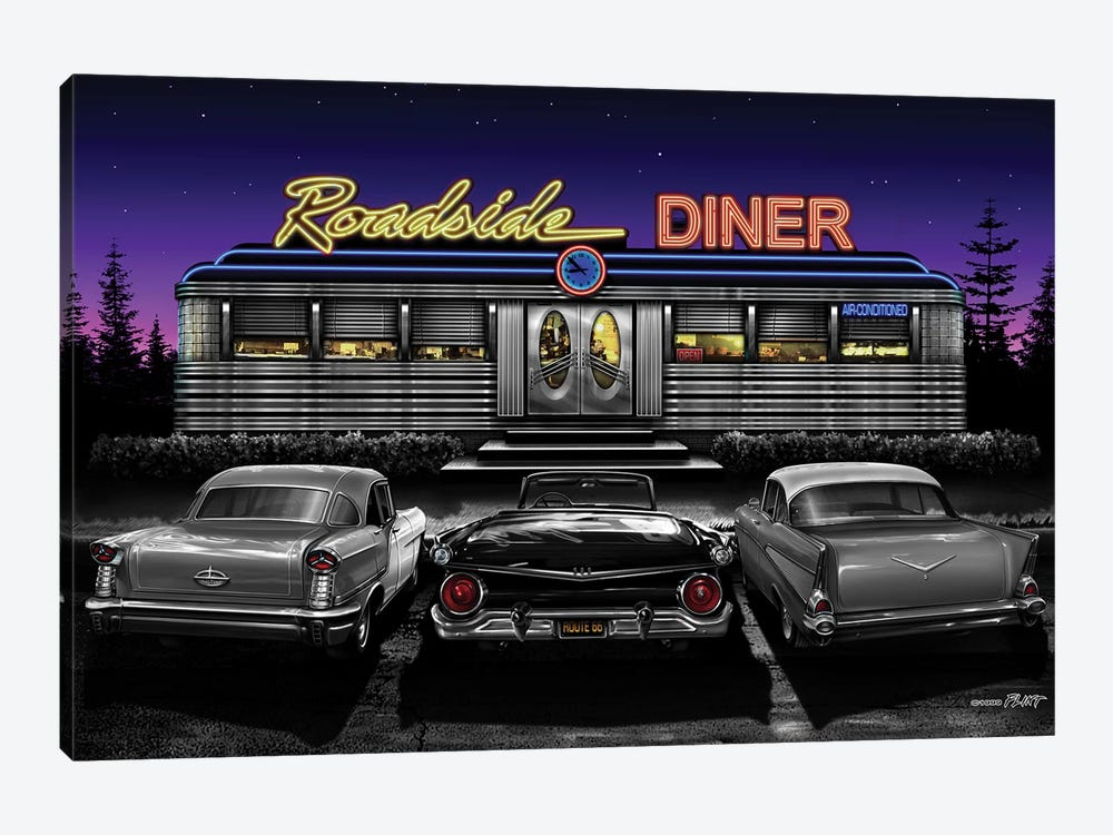 Roadside Diner II by Helen Flint 1-piece Canvas Art