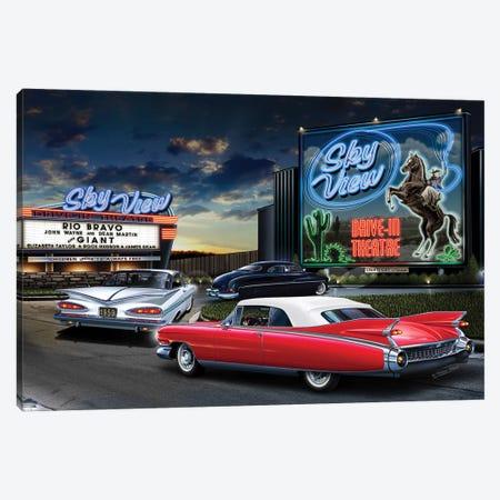 Skyview Drive-In I Canvas Print #HFL17} by Helen Flint Canvas Wall Art