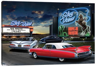 Skyview Drive-In I Canvas Art Print