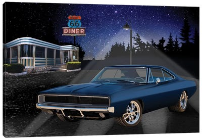 66 Muscle I Canvas Art Print