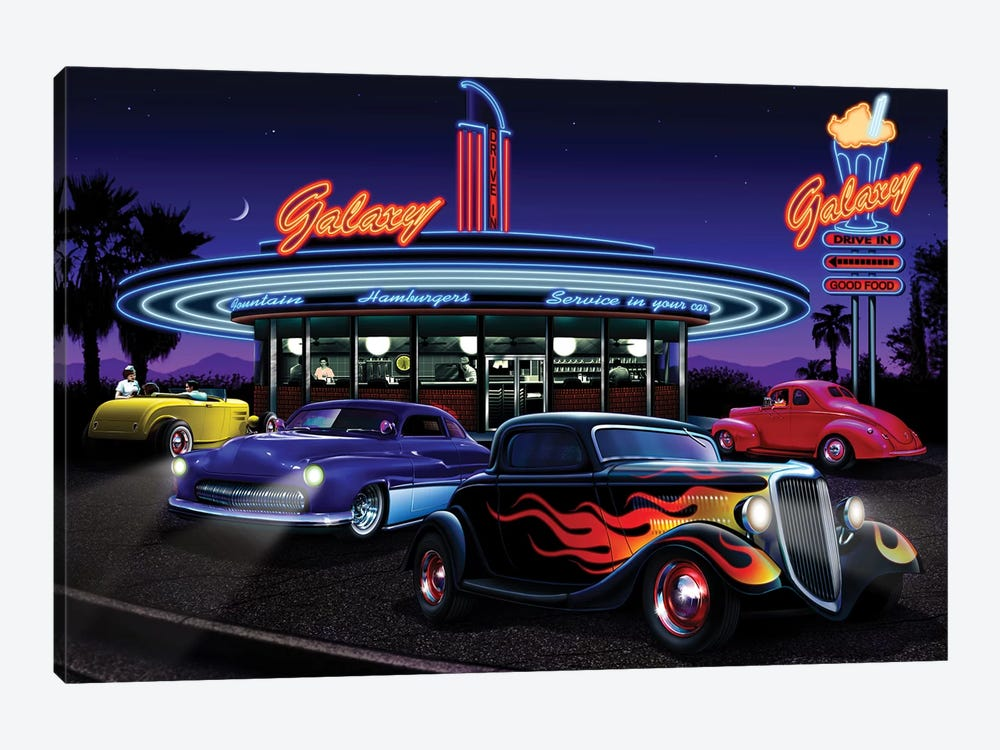 Galaxy Diner I by Helen Flint 1-piece Canvas Artwork