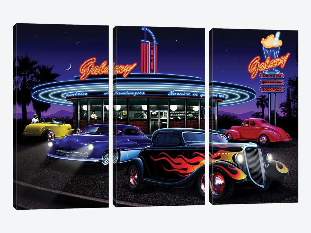 Galaxy Diner I by Helen Flint 3-piece Canvas Wall Art