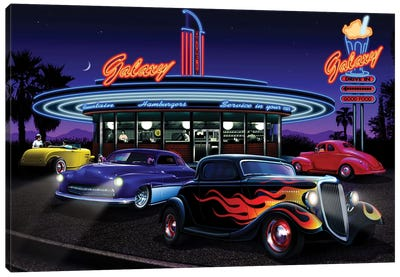 Galaxy Diner I Canvas Art Print