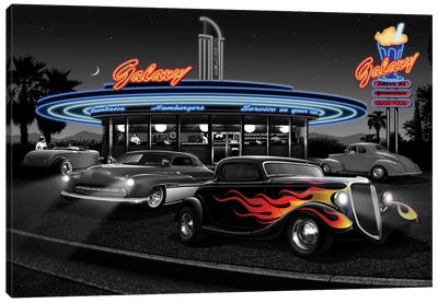 Galaxy Diner II Canvas Art Print