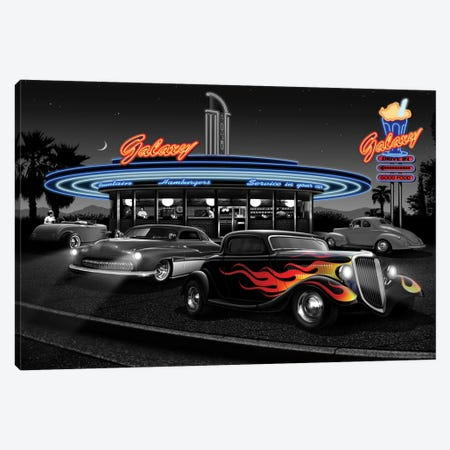 Galaxy Diner II Canvas Print #HFL5} by Helen Flint Art Print