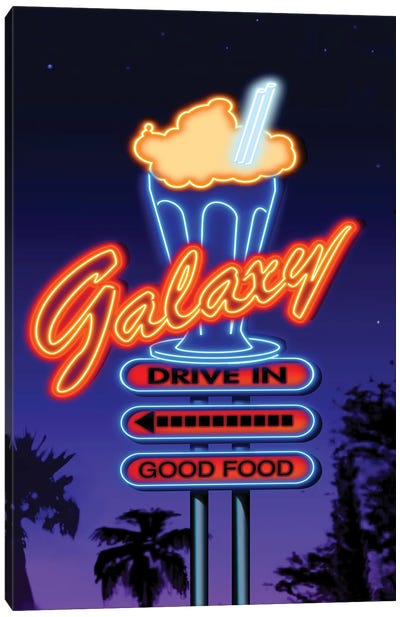 Galaxy Diner III Canvas Art Print