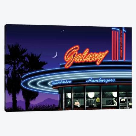 Galaxy Diner IV Canvas Print #HFL7} by Helen Flint Canvas Art Print