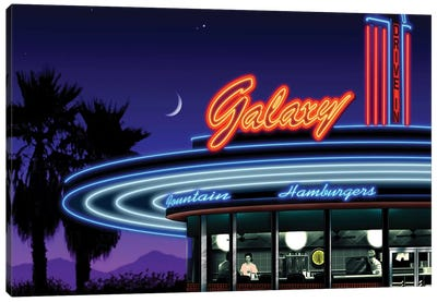 Galaxy Diner IV Canvas Art Print