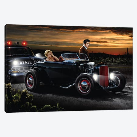 Joy Ride Canvas Print #HFL8} by Helen Flint Canvas Art