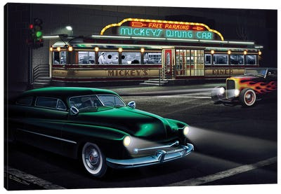 Mickey's Diner I Canvas Art Print