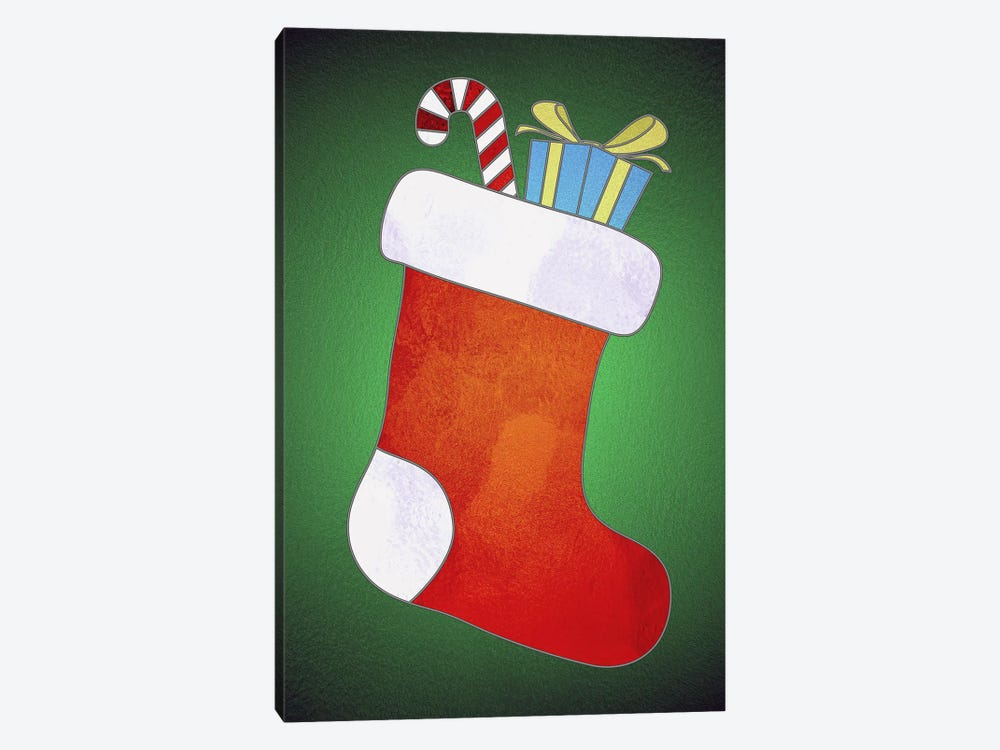 Festive Stocking by 5by5collective 1-piece Canvas Art Print