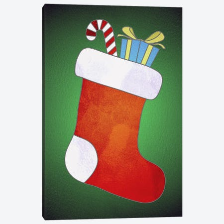 Festive Stocking Canvas Print #HFN1} by 5by5collective Canvas Artwork