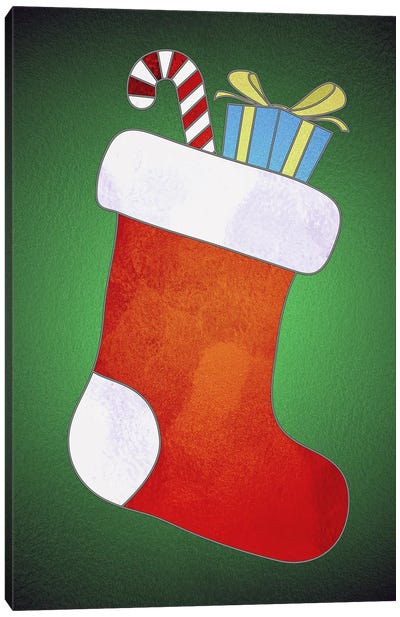 Festive Stocking Canvas Art Print
