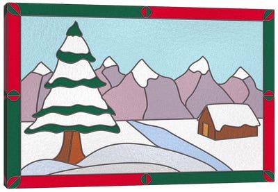 Snowy Terrain Canvas Art Print