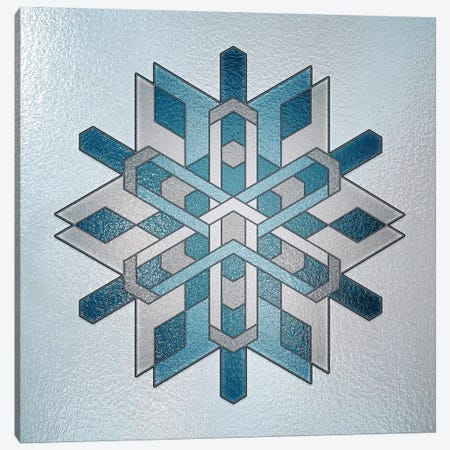 Structural Snowflake Canvas Print #HFN5} by 5by5collective Art Print
