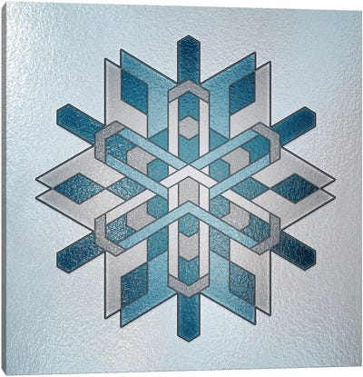 Structural Snowflake Canvas Art Print
