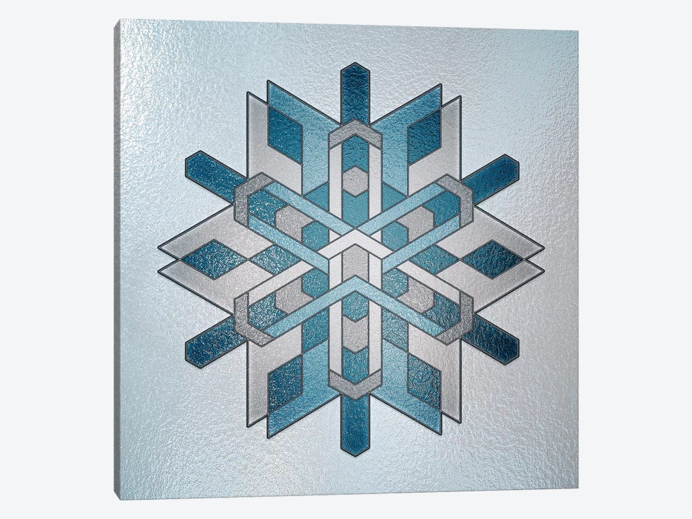 Structural Snowflake by 5by5collective 1-piece Art Print