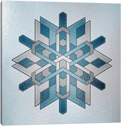 Structural Snowflake Canvas Art Print