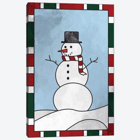 Winter Snowman Canvas Print #HFN6} by 5by5collective Canvas Art Print