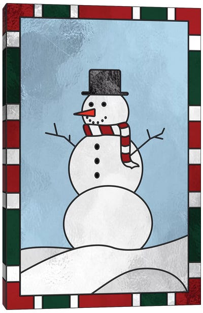 Winter Snowman Canvas Art Print