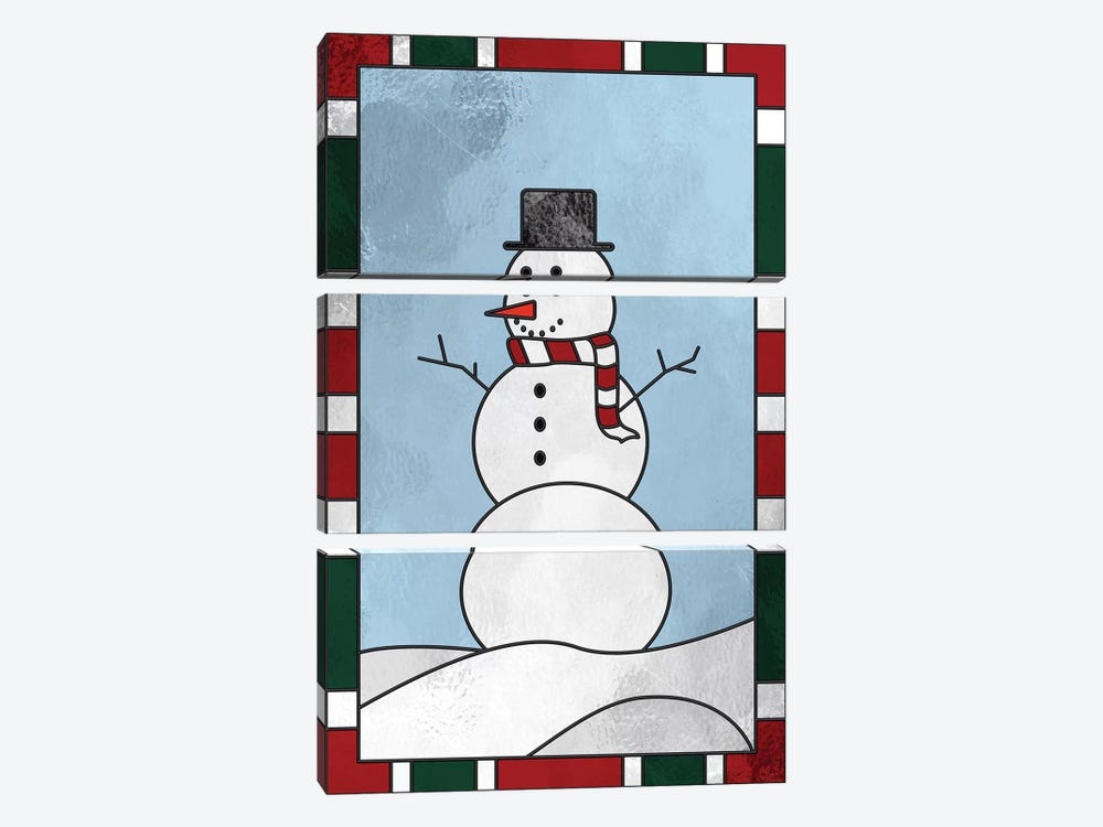 Winter Snowman by 5by5collective 3-piece Canvas Artwork