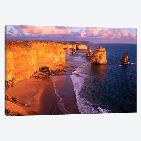 The Twelve Apostles At Sunset II, Port Campbell National Park, Victoria, Australia Canvas Print #HGA1} by Howie Garber Canvas Art